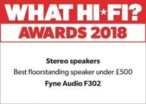 F302 What HiFi Award Winner 2018