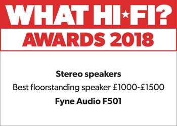 F501 What Hifi Award